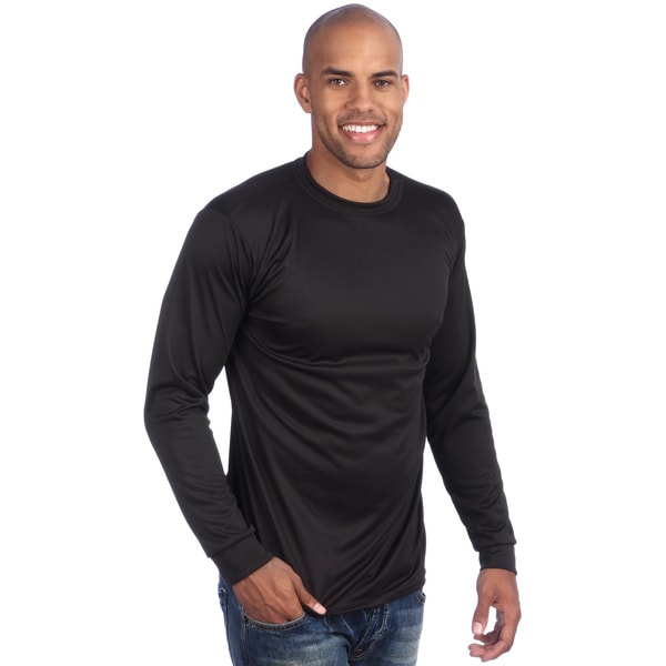 Kenyon Men's Machine-washable Silkyester Long-sleeved Crew-neck Top