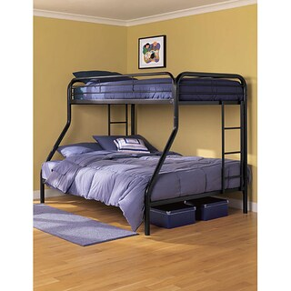DHP Twin Full Bunk Bed (Option: Black)