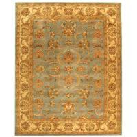 Safavieh Handmade Heritage Timeless Traditional Blue/ Beige Wool Rug (5' x 8')