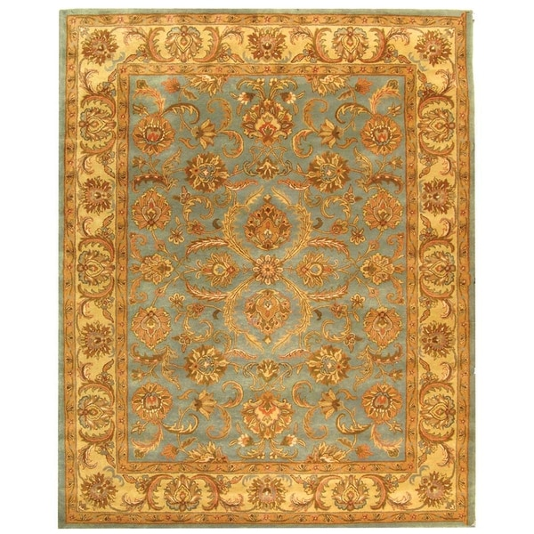 Safavieh Handmade Heritage Timeless Traditional Blue/ Beige Wool Rug (8'3 x 11')