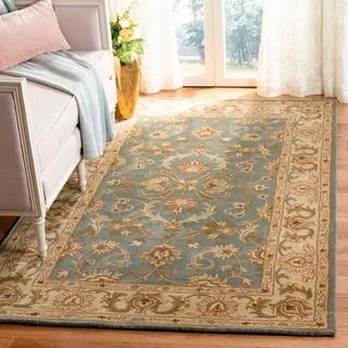 Safavieh Handmade Heritage Timeless Traditional Blue/ Beige Wool Rug (8'3 x 11')