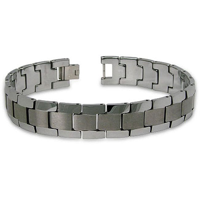 Men's Two-tone Tungsten Bracelet