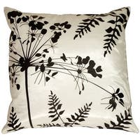 Pillow Décor - Spring Flower and Ferns Large Throw Pillow