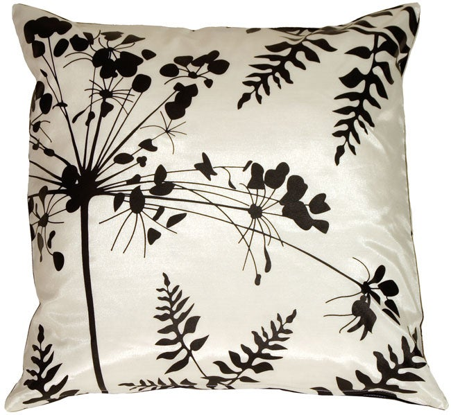 Spring Flower and Ferns Large Throw Pillow