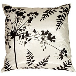 Spring Flower and Ferns Small Throw Pillow