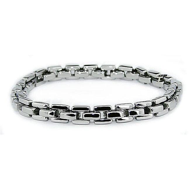 Stainless Steel Men's Classic Link Bracelet