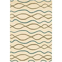 Artist's Loom Hand-tufted Contemporary Geometric Wool Rug - 5' x 7'6""