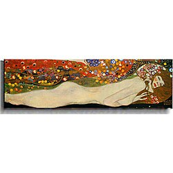 Gustav Klimt 'Sea Serpeants III' Canvas Art
