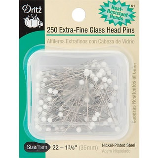 Extra-fine Glass Head Pins (Pack of 250)