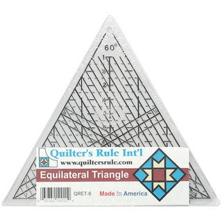 Mini Equilateral Triangle 6-inch Quilter's Ruler