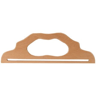 Natural-colored Wood 12-inch Purse Handle with Slot Styling