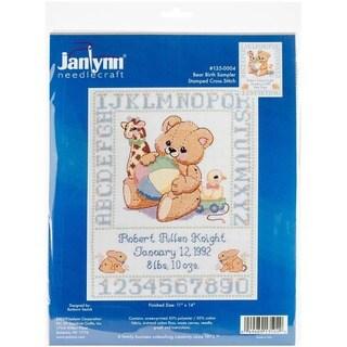 Janlynn Bear Birth Sampler 11x14-inch Stamped