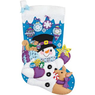 Frosty Stocking Felt Applique Kit