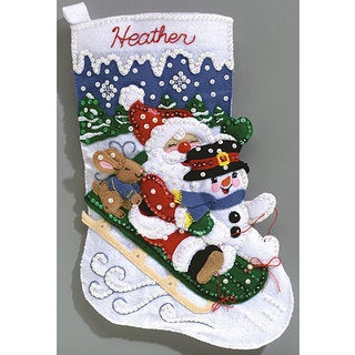 Janlynn Felt Applique Christmas Stocking Kit