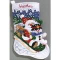 Janlynn Felt Applique Christmas Stocking Kit