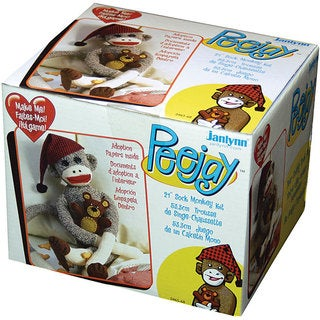 Peejay Sock Monkey Craft Kit with Adoption Papers