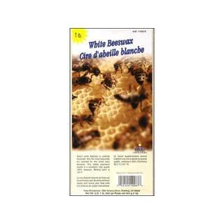 Yaley 1-pound White Beeswax Block