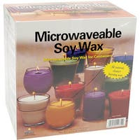 Microwaveable Soy Wax for Glass Containers (Pack of 4 Pounds)