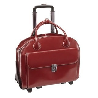 McKlein Glen Ellyn Leather Detachable-wheeled Laptop Case (3 options available)