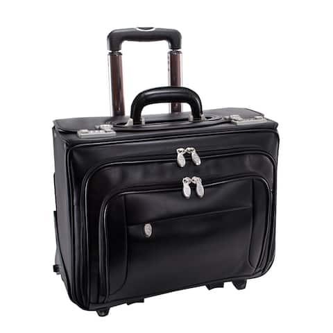 "McKlein Black Sheridan 17in. Detachable-Wheeled Laptop Case - 18""L x 9.25""W x 14.5""H"