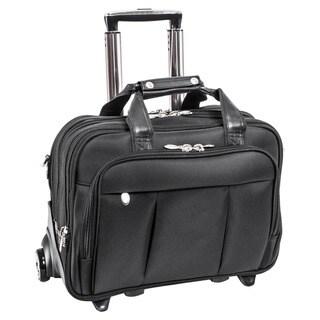 McKlein Damen Nylon Detachable-Wheeled Laptop Case