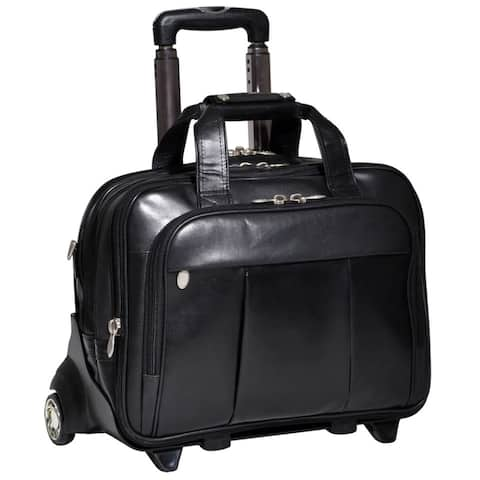 McKlein Damen Leather Detachable-Wheeled Laptop Case