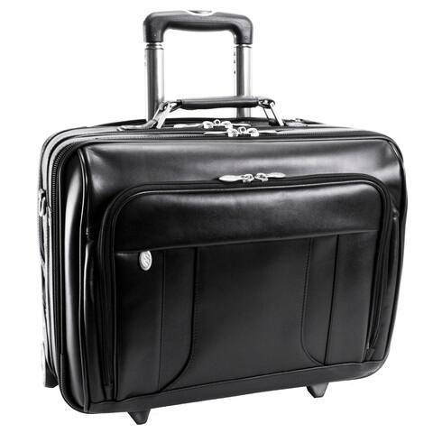 "McKlein Black LaSalle 17in. Wheeled Laptop Overnighter - 18""L x 7""W x 13.5""H"