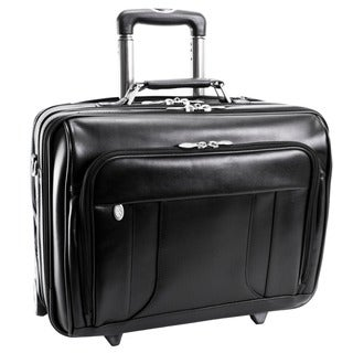 McKlein Black LaSalle 17in. Wheeled Laptop Overnighter