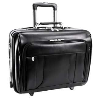 McKlein Black LaSalle 17in. Wheeled Laptop Overnighter|https://ak1.ostkcdn.com/images/products/3665546/P11727999.jpg?impolicy=medium