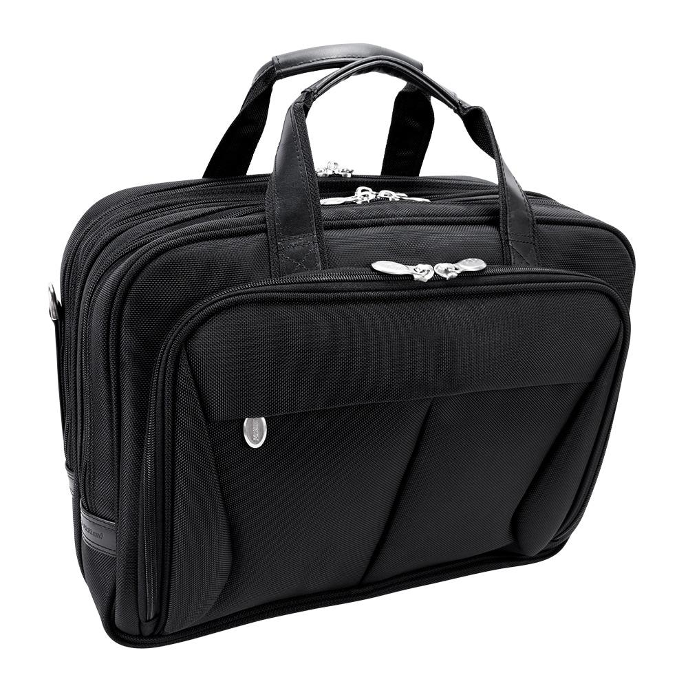 McKlein Black Pearson Expandable Laptop Briefcase (Pearson 74565 R Seri)