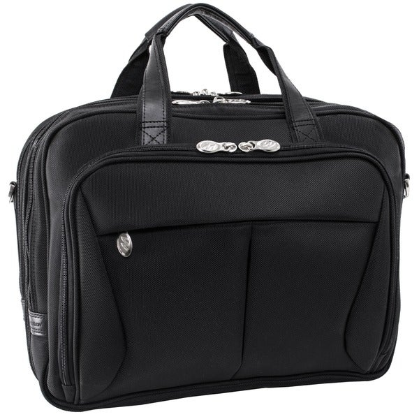 McKlein Black Pearson Expandable Laptop Briefcase