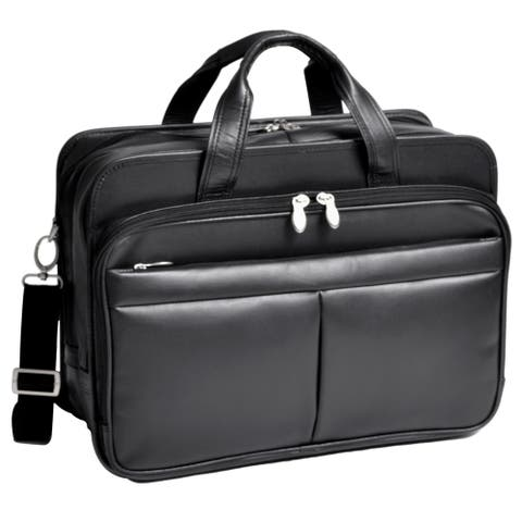 McKleinUSA WALTON (Black) Expandable Compartment Laptop Case