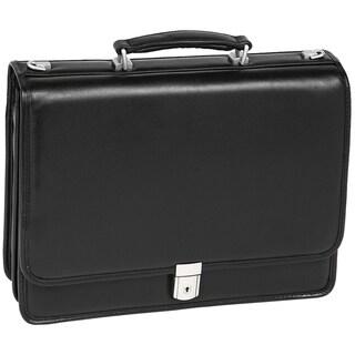 McKlein Black Bucktown Double Compartment Briefcase