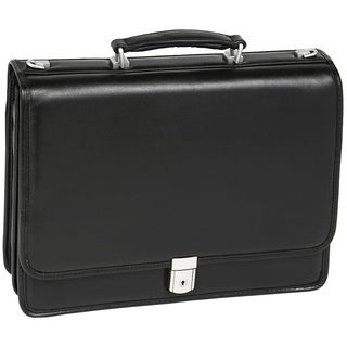 McKlein Black Bucktown Double Compartment Briefcase