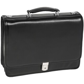 McKlein Black River North Triple Compartment 17-inch Laptop Briefcase