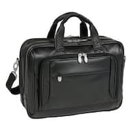 McKlein Black West Loop Expandable Double Compartment Briefcase