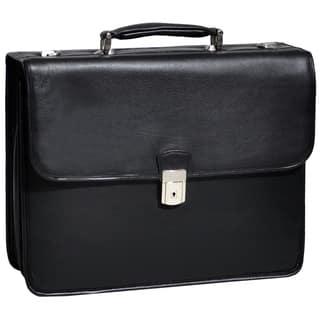 McKlein Ashburn Black Leather 15.4-inch Laptop Briefcase|https://ak1.ostkcdn.com/images/products/3665589/P11728040.jpg?impolicy=medium