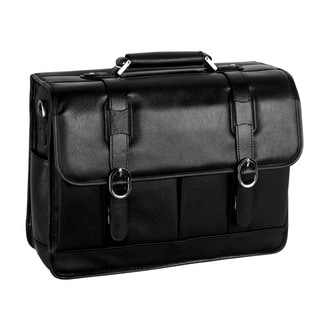 McKleinUSA Beverly Black Leather Laptop Case