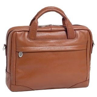 McKlein Brown Bronzeville Leather 15.4-inch Laptop Briefcase