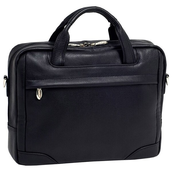 McKleinUSA Montclare Black Small Leather 13.3-inch Laptop Briefcase