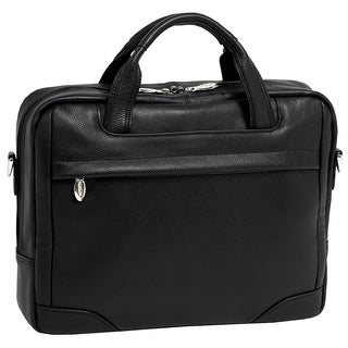 McKleinUSA Montclare Black Small Leather 13.3-inch Laptop Briefcase