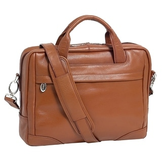 McKleinUSA Montclare Brown Small Leather 13.3-inch Laptop Briefcase