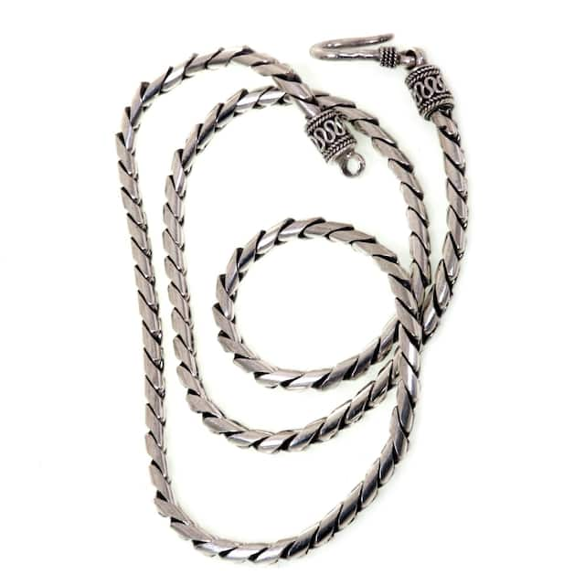 Look Sleek Sterling Silver Womens Necklace