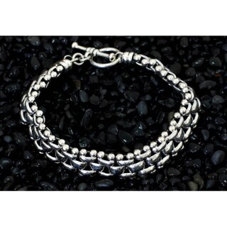 Freedom Everyday or Dressy Toggle Closure Fluid Flexible 925 Sterling Silver Unique Gift Mens Modern