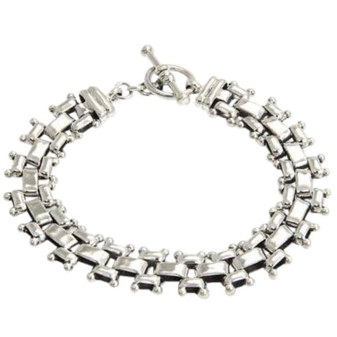 Handmade Freedom Everyday or Dressy Toggle Closure Fluid Flexible 925 Sterling Silver Unique Gift Mens Modern (India)
