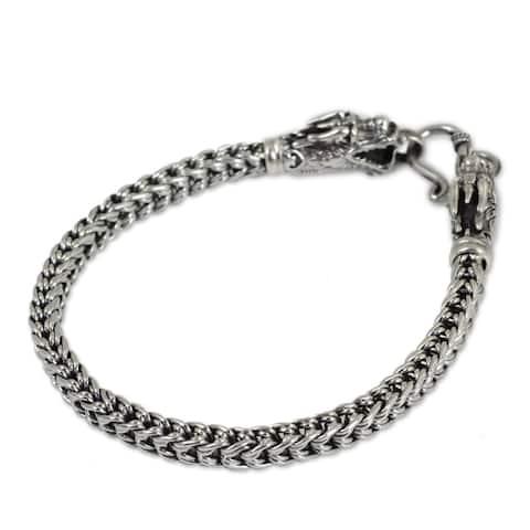 Handmade Dragon 925 Sterling Silver Bracelet (Thailand)
