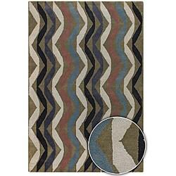 Artist's Loom Hand-tufted Contemporary Geometric Wool Rug (2'6x7'6)