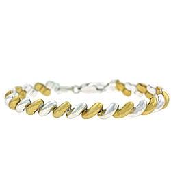 Mondevio 18k Gold over Sterling Silver San Marco Bracelet