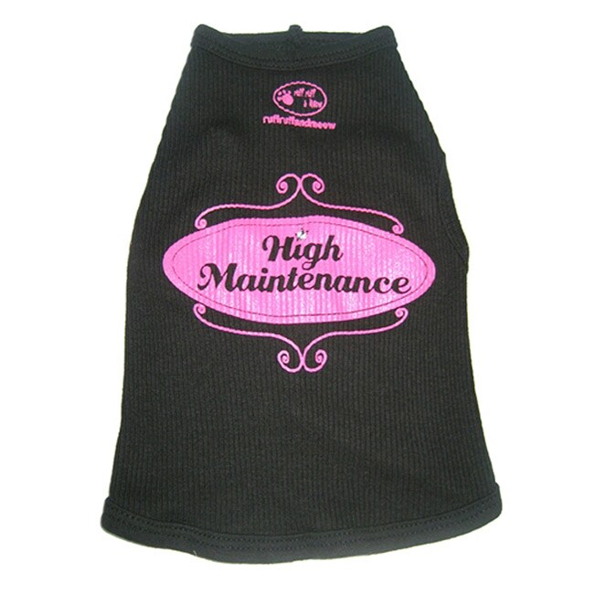 'High Maintenance' Dog's Cotton Tank Top