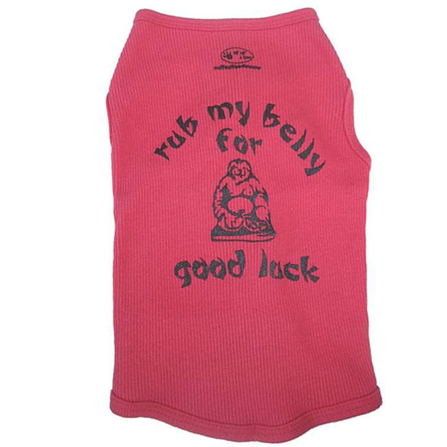 Rub My Belly For Good Luck Dog Tank Top